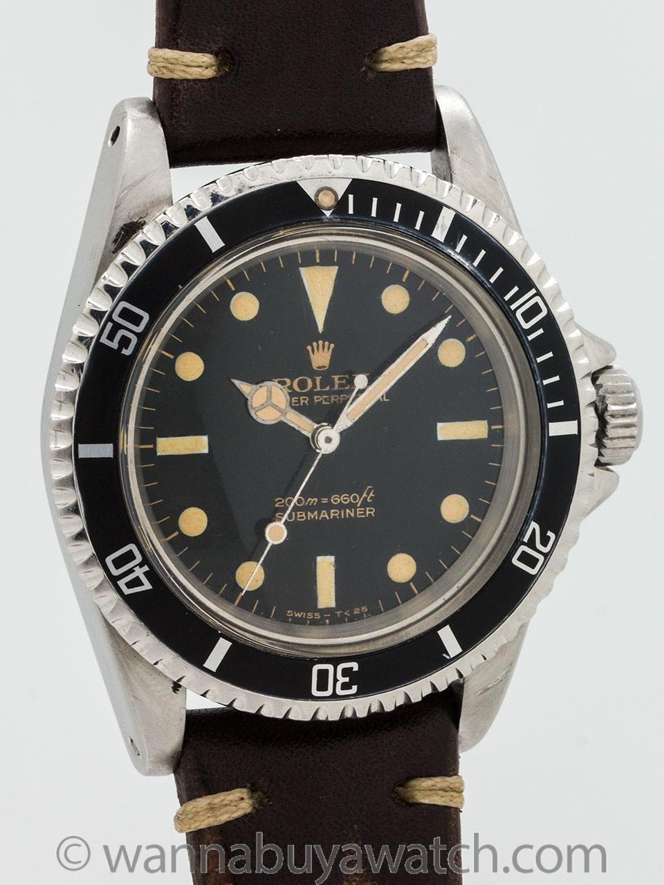 "Rolex Submariner ref 5513 Gilt ""Bart Simpson"" circa 1966"