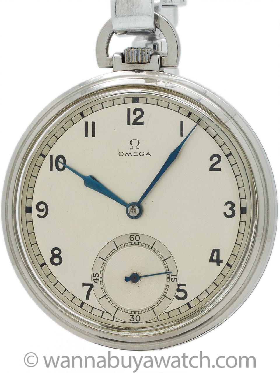 Omega Industrial Design Dress Pocket Watch circa 1930's