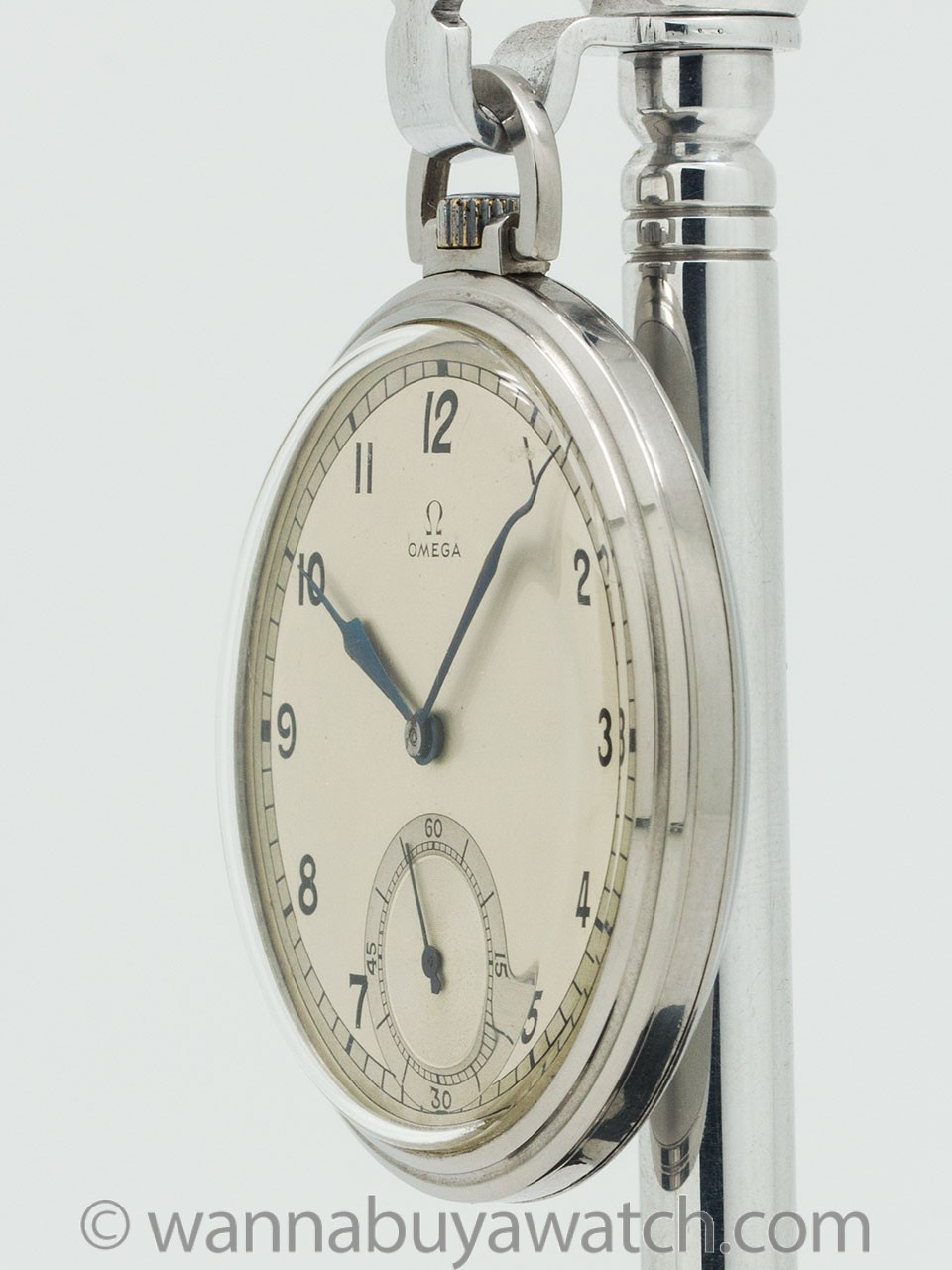 Omega Industrial Design Dress Pocket Watch circa 1930's