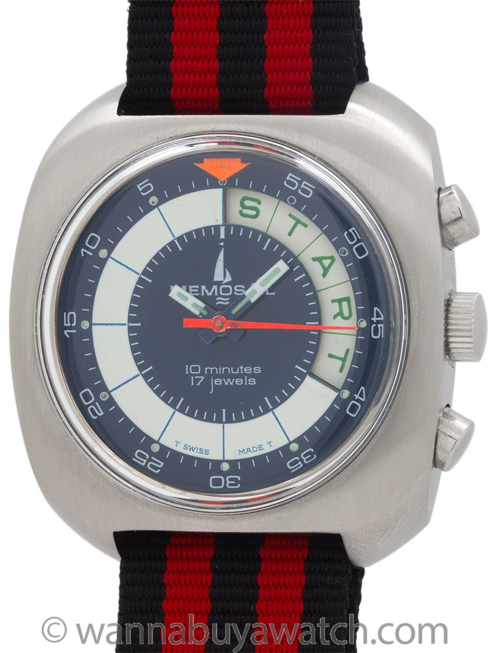Memosail Swiss Yachting Chronograph New Old Stock circa 1970's