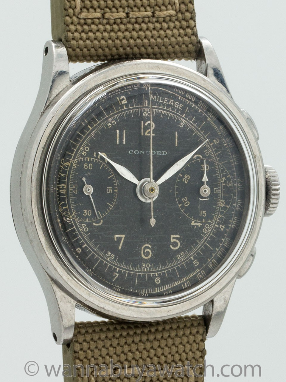 Concord Chronograph Stainless Steel circa 1940's