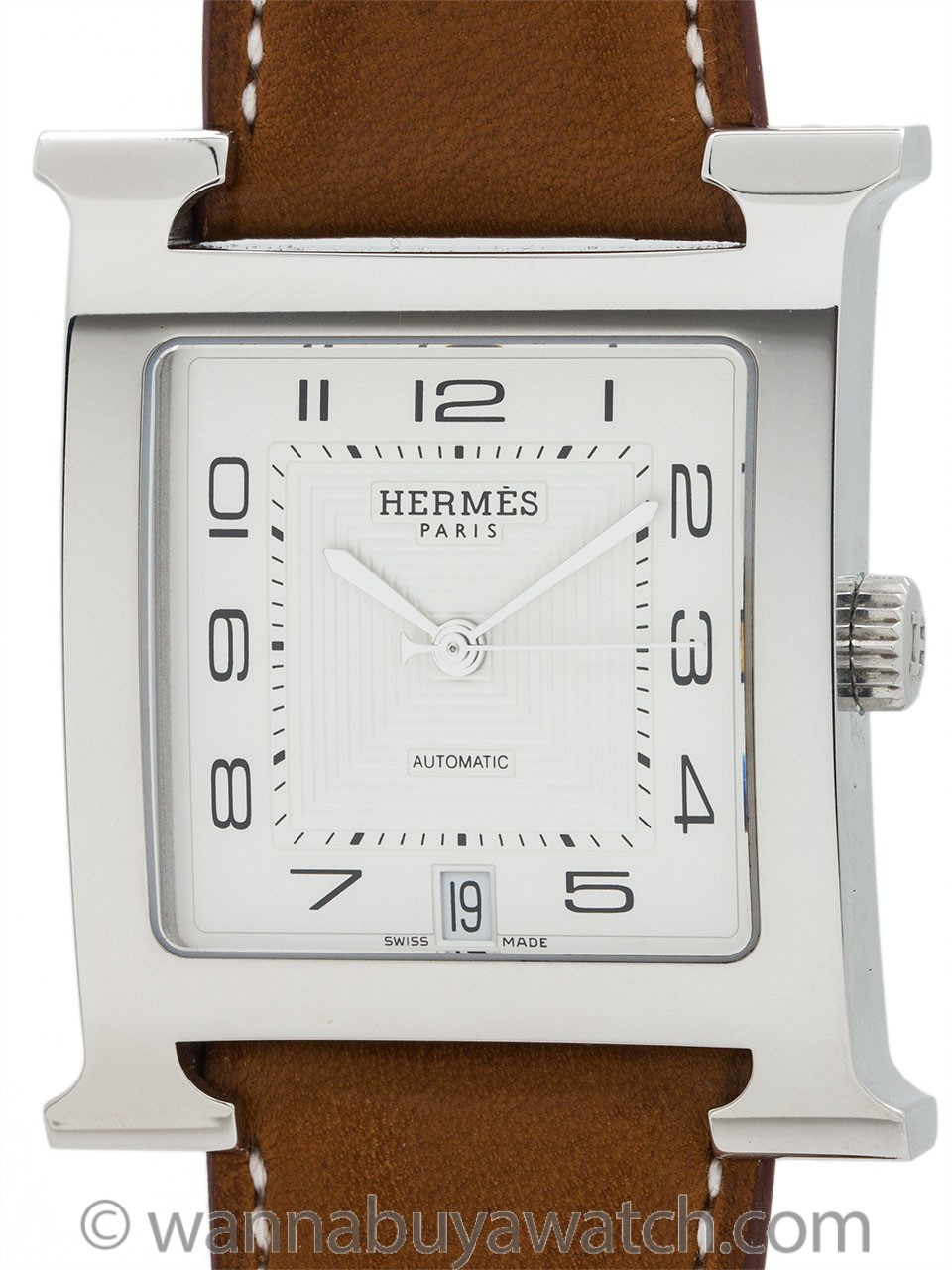 Hermes Man's H Hour ref HH2.810 circa 2000s
