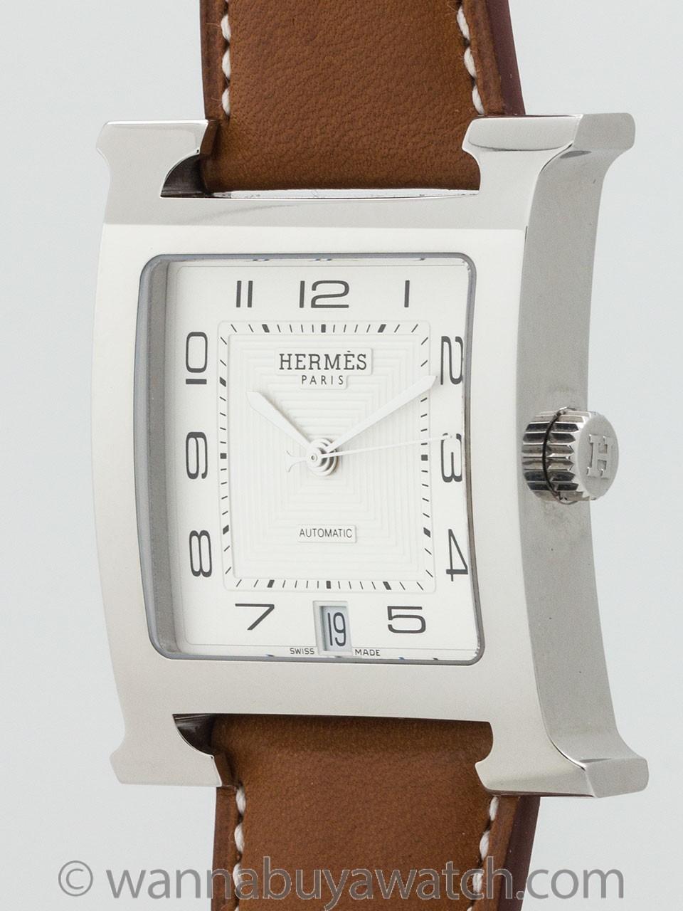 Hermes Man's H Hour ref HH2.810 circa 2000s
