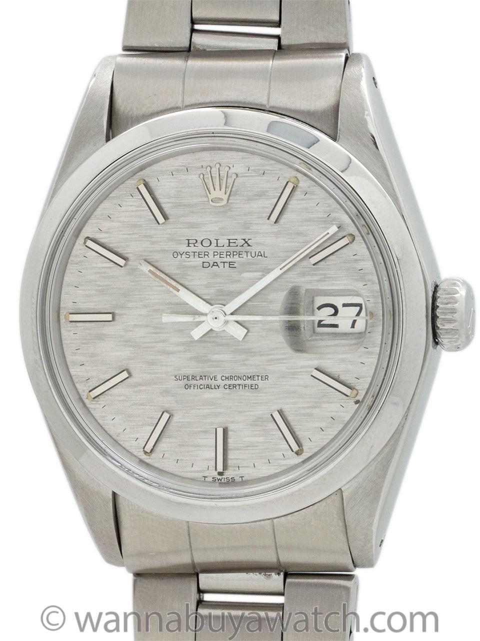 Rolex Oyster Perpetual Date ref 1500 Linen Dial circa 1970