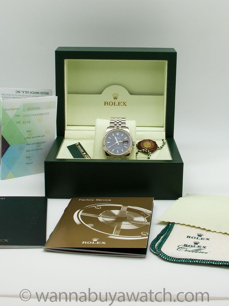 Rolex SS Datejust ref # 116234 circa 2007 B & P