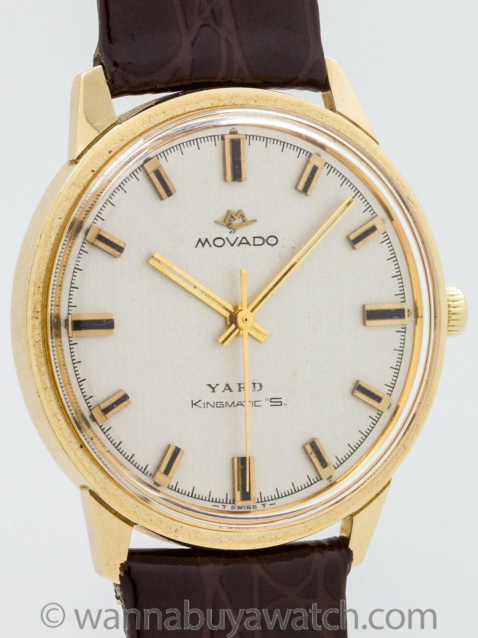 Movado 14K YG Kingmatic circa 1960s