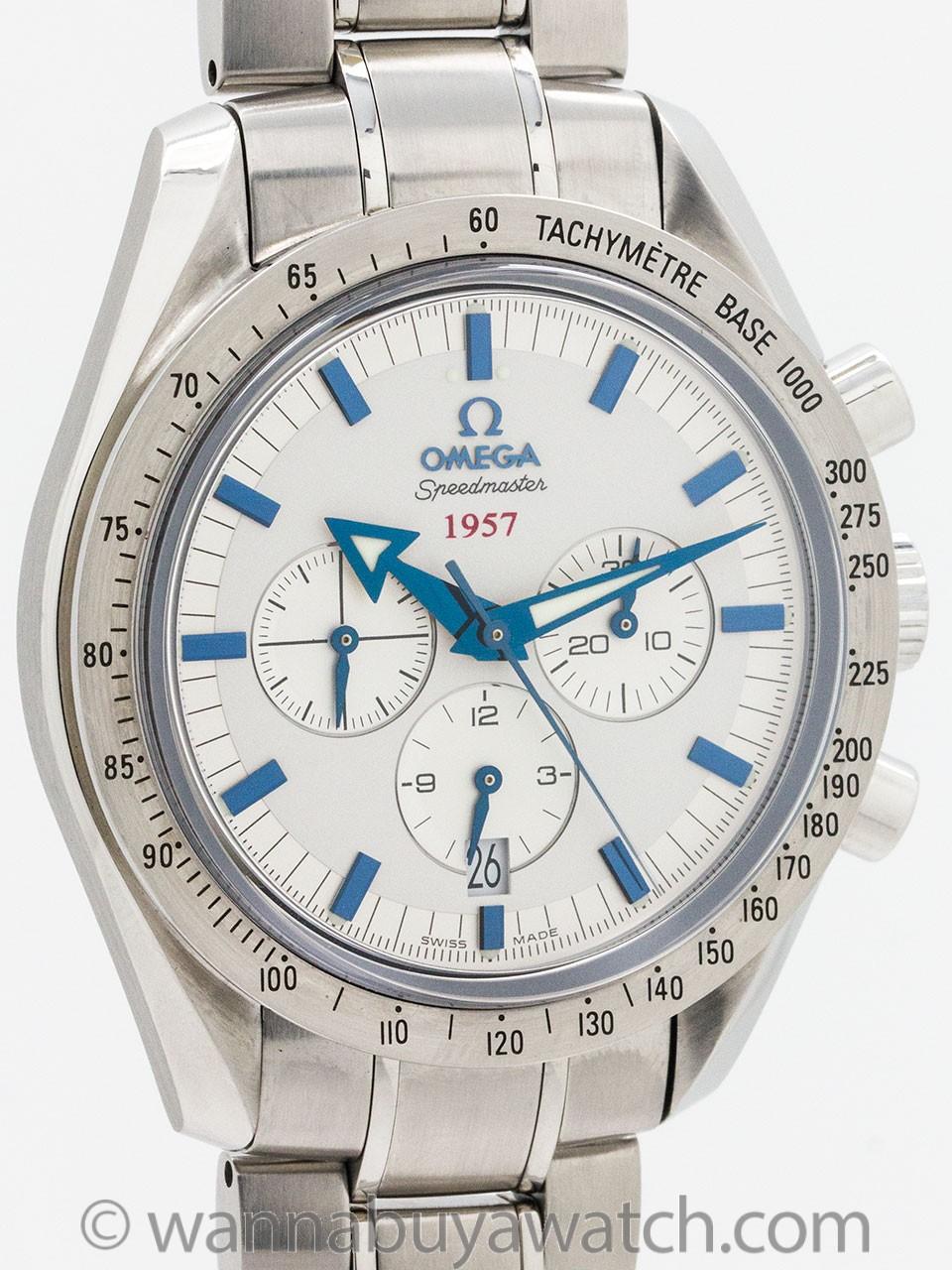 Omega Speedmaster ref 3211.04.25 Broad Arrow 1957 50th Anniversary