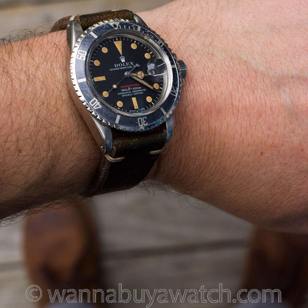 "Rolex ref 1680 ""Red"" Submariner circa 1971 ""Ghost Bezel"""