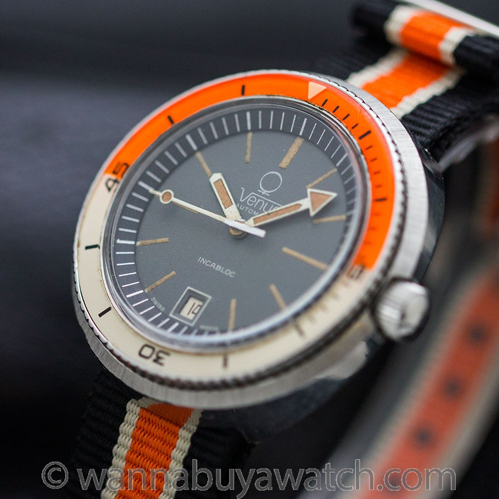 Venus Diver's Automatic Stainless Steel circa 1960's