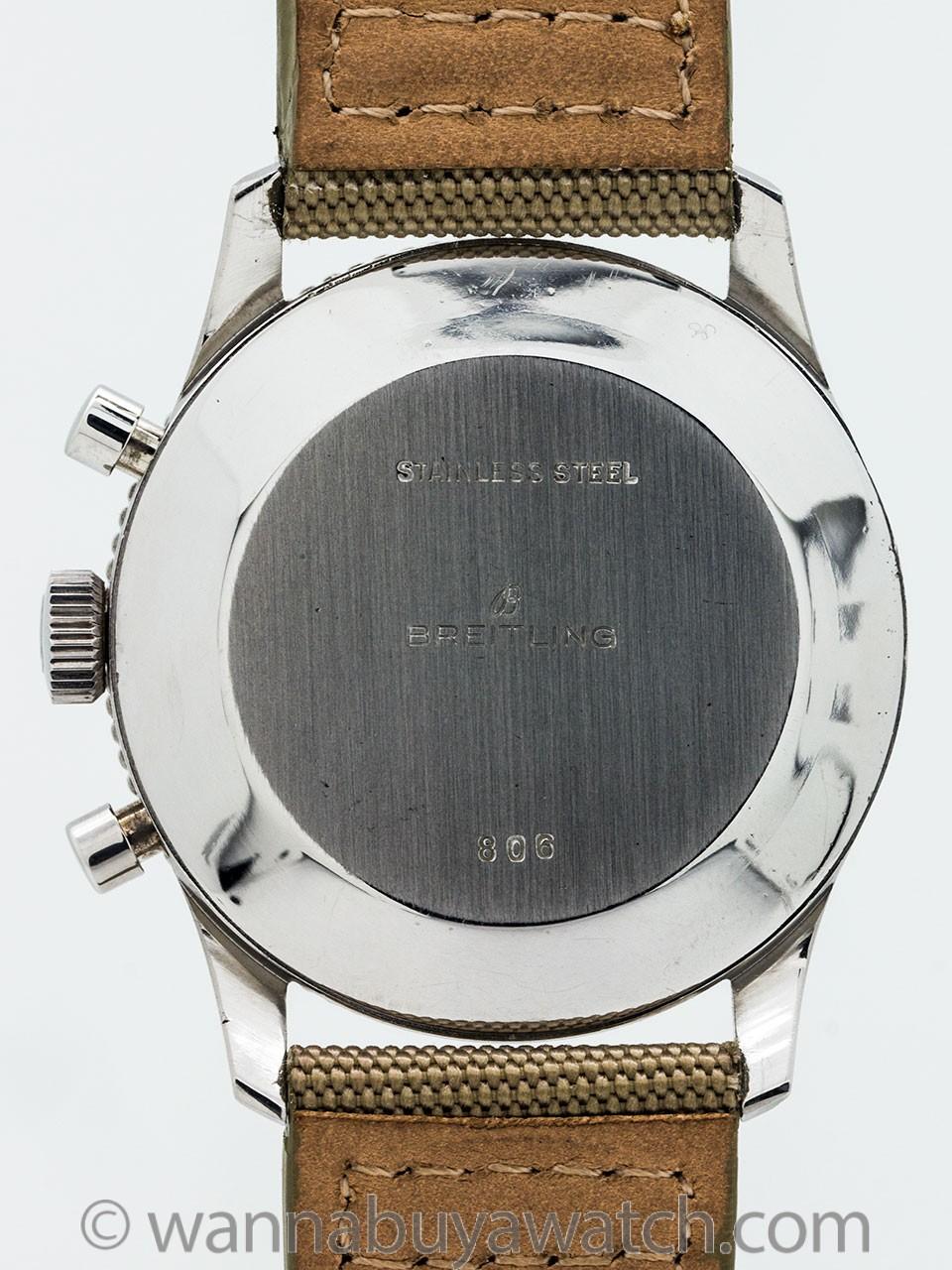 Vintage Breitling Navitimer ref 806 AOPA Transitional Beaded Bezel circa 1960