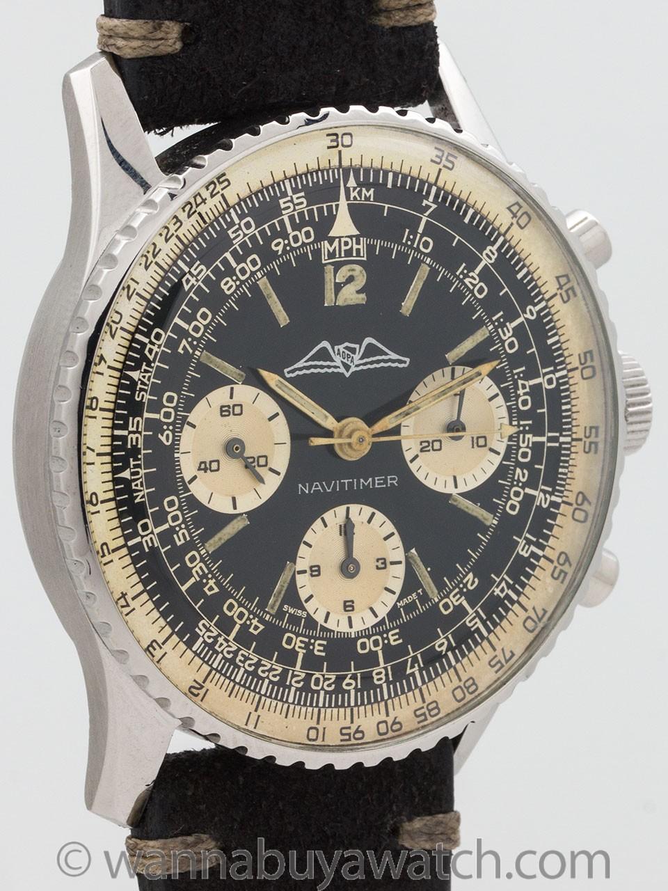 Vintage Breitling Navitimer ref 806 AOPA circa 1966