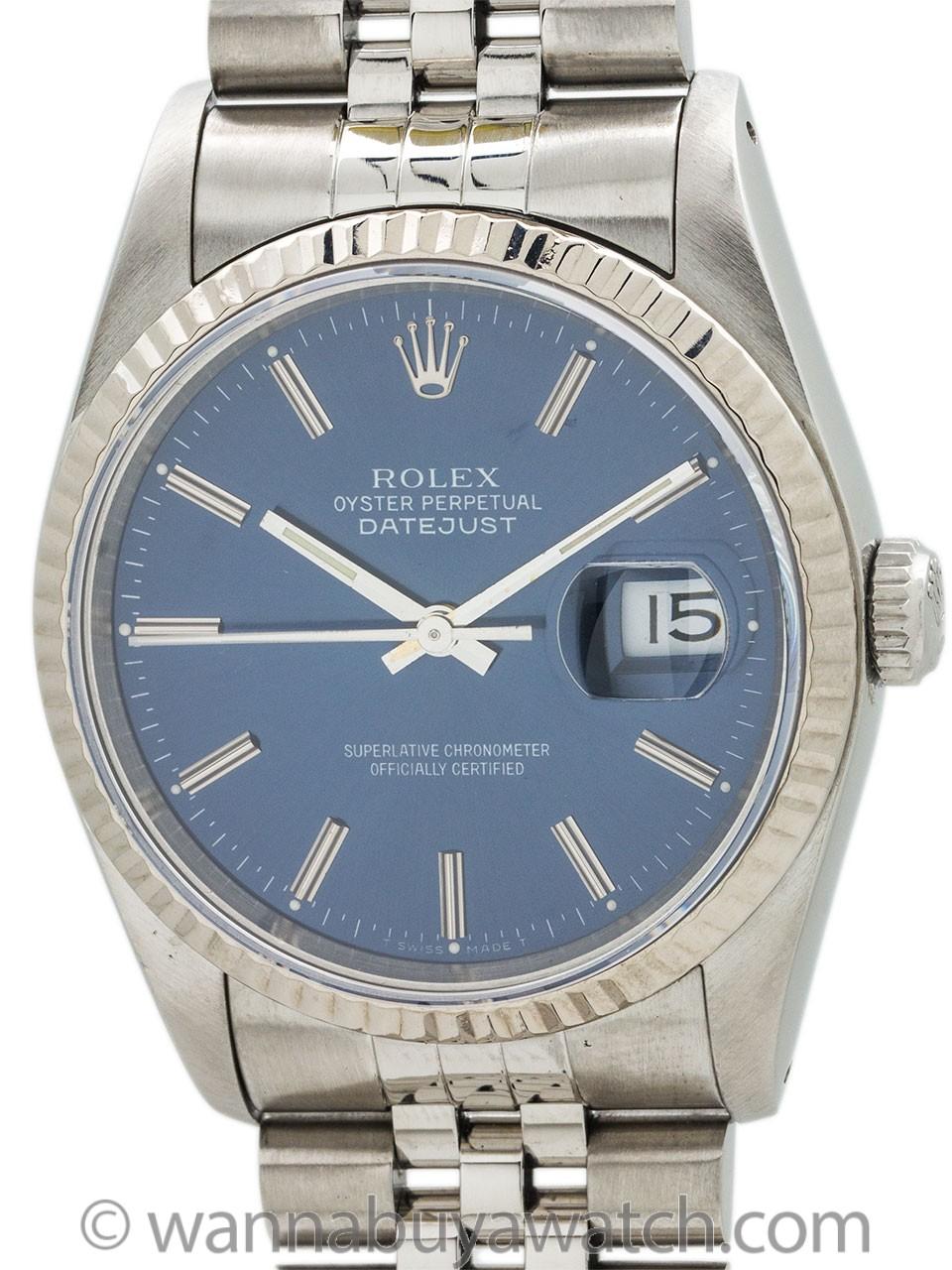 Rolex Datejust Stainless Steel ref 16234 circa 1991