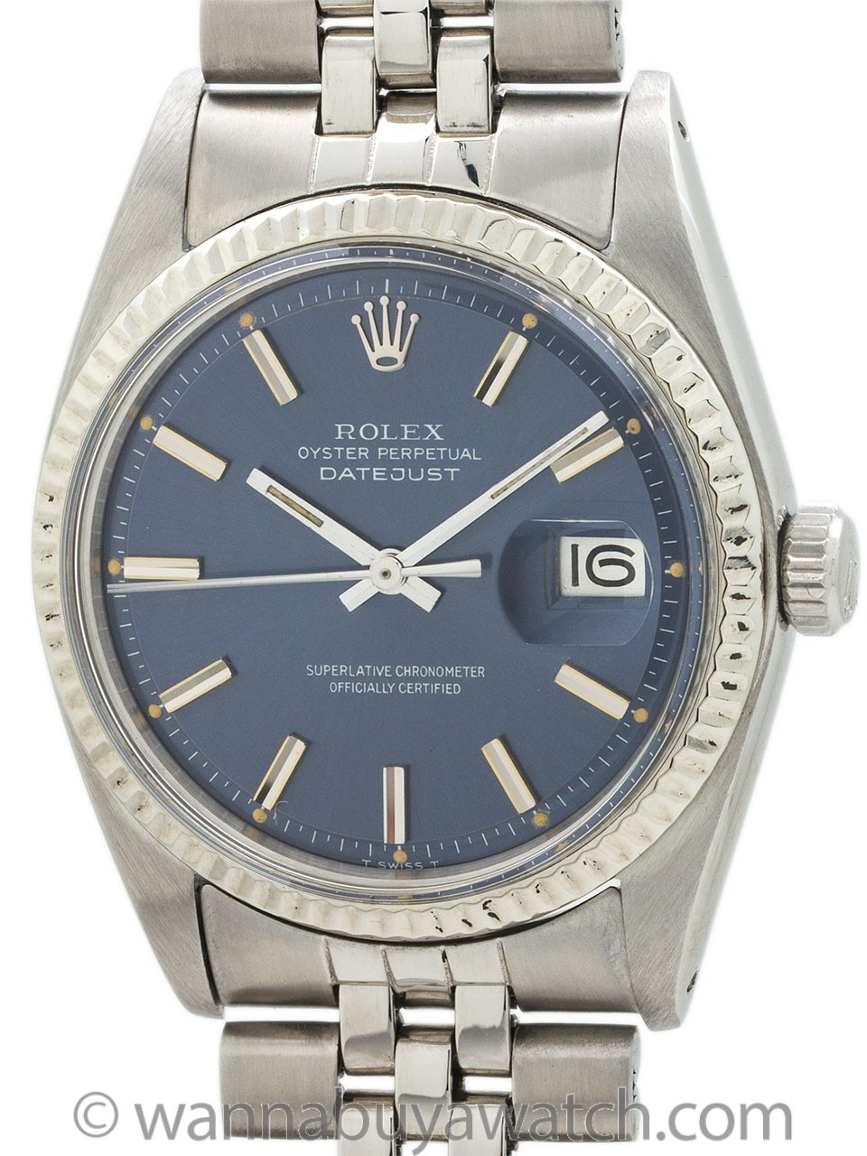 "Rolex Datejust ref 1601 ""Steel Blue"" circa 1972"