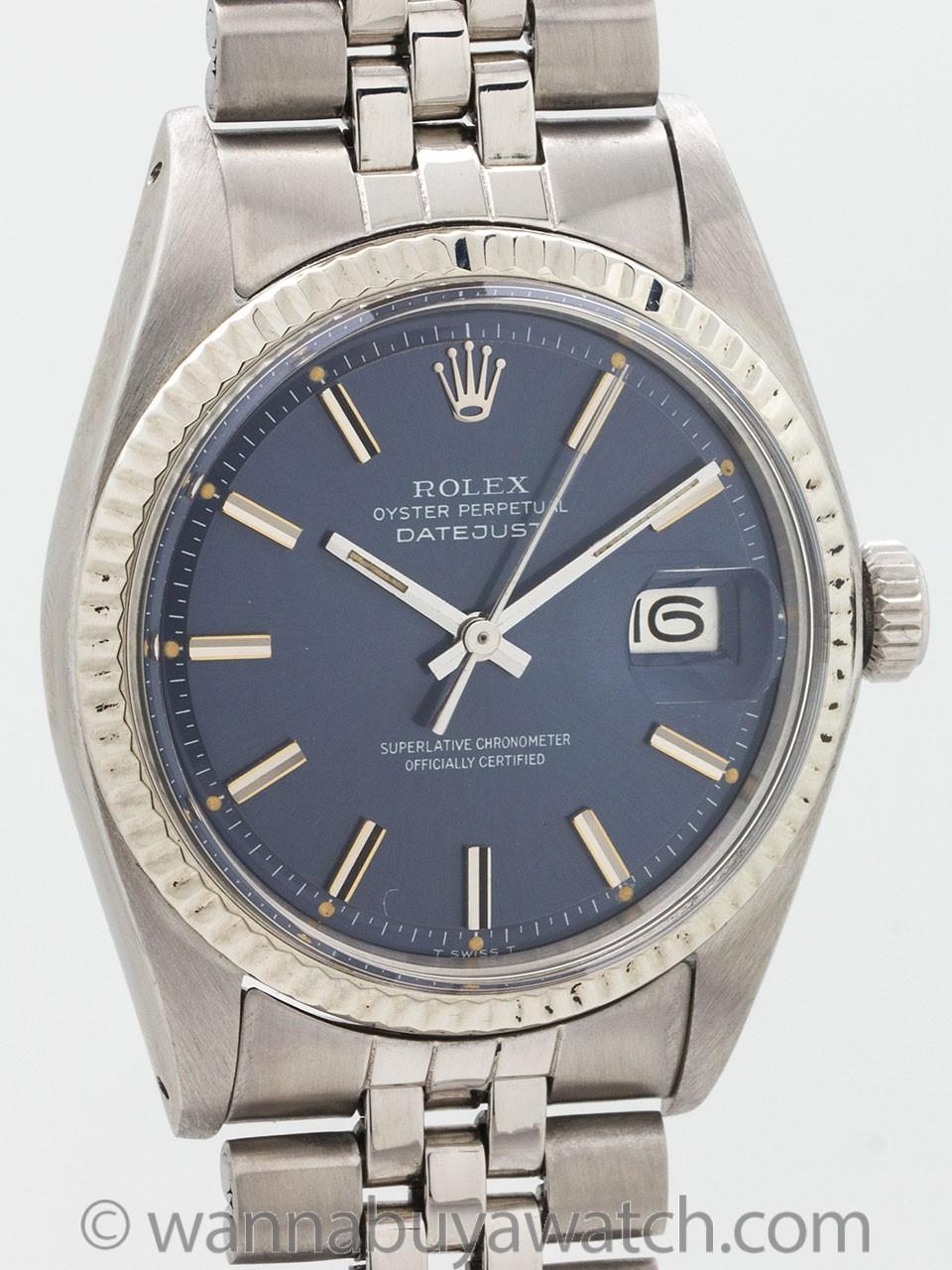 """Rolex Datejust ref 1601 """"Steel Blue"""" circa 1972"""