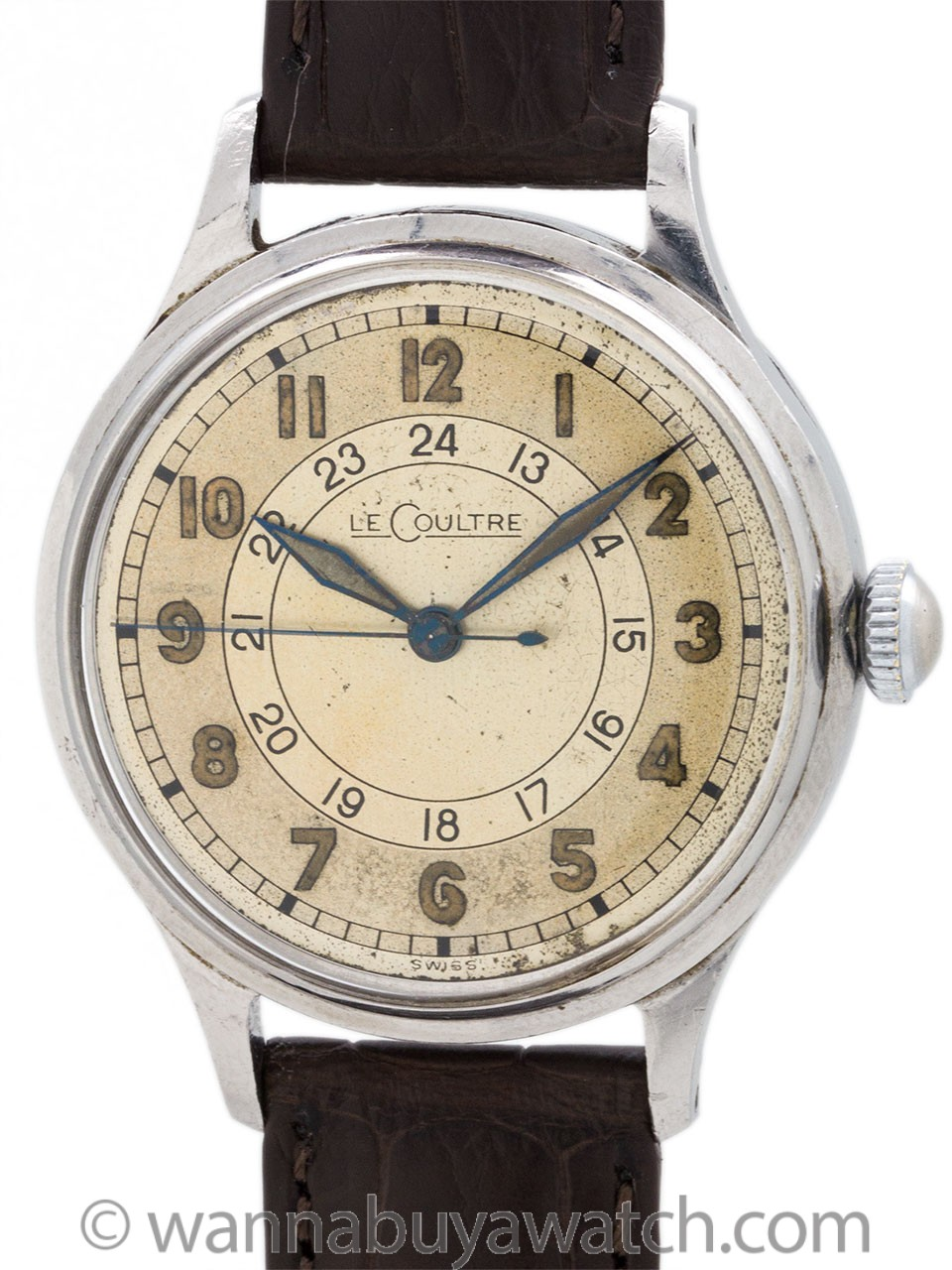 LeCoultre 24 Hour Military circa 1940s