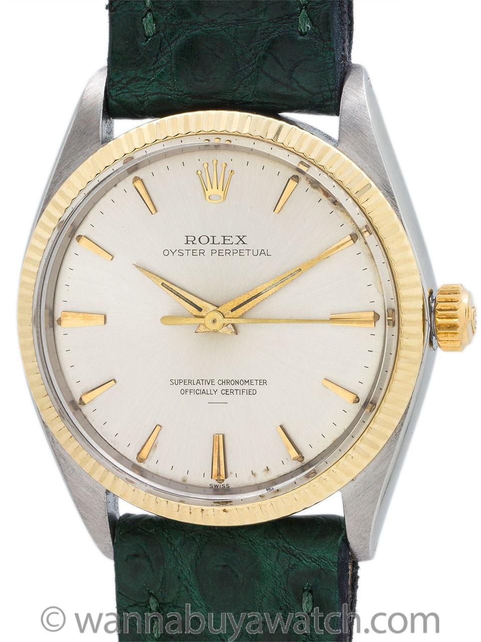 Rolex Oyster Perpetual SS/14K YG ref 1005 circa 1964