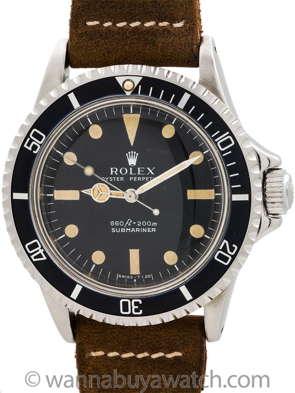 Rolex Submariner ref 5513 circa 1974
