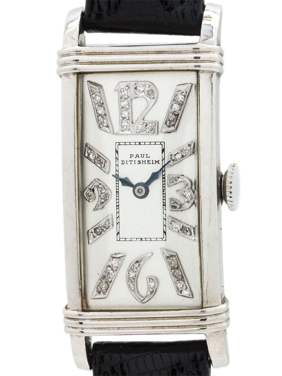 Platinum Art Deco Diamond Dial Paul Ditisheim circa 1930's