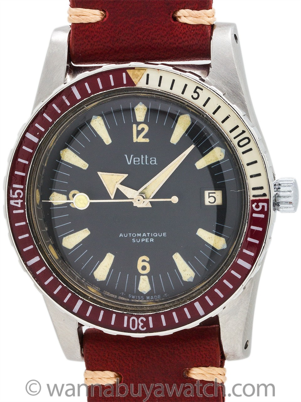 Vetta Swiss Diver's Bakelite Bezel circa 1960's