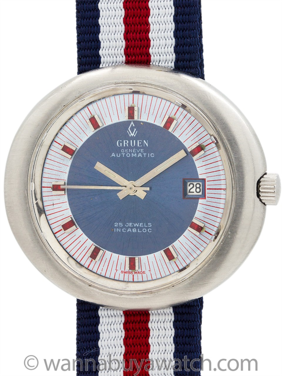 "Gruen Automatic ""Born on the 4th of July"" circa 1970"