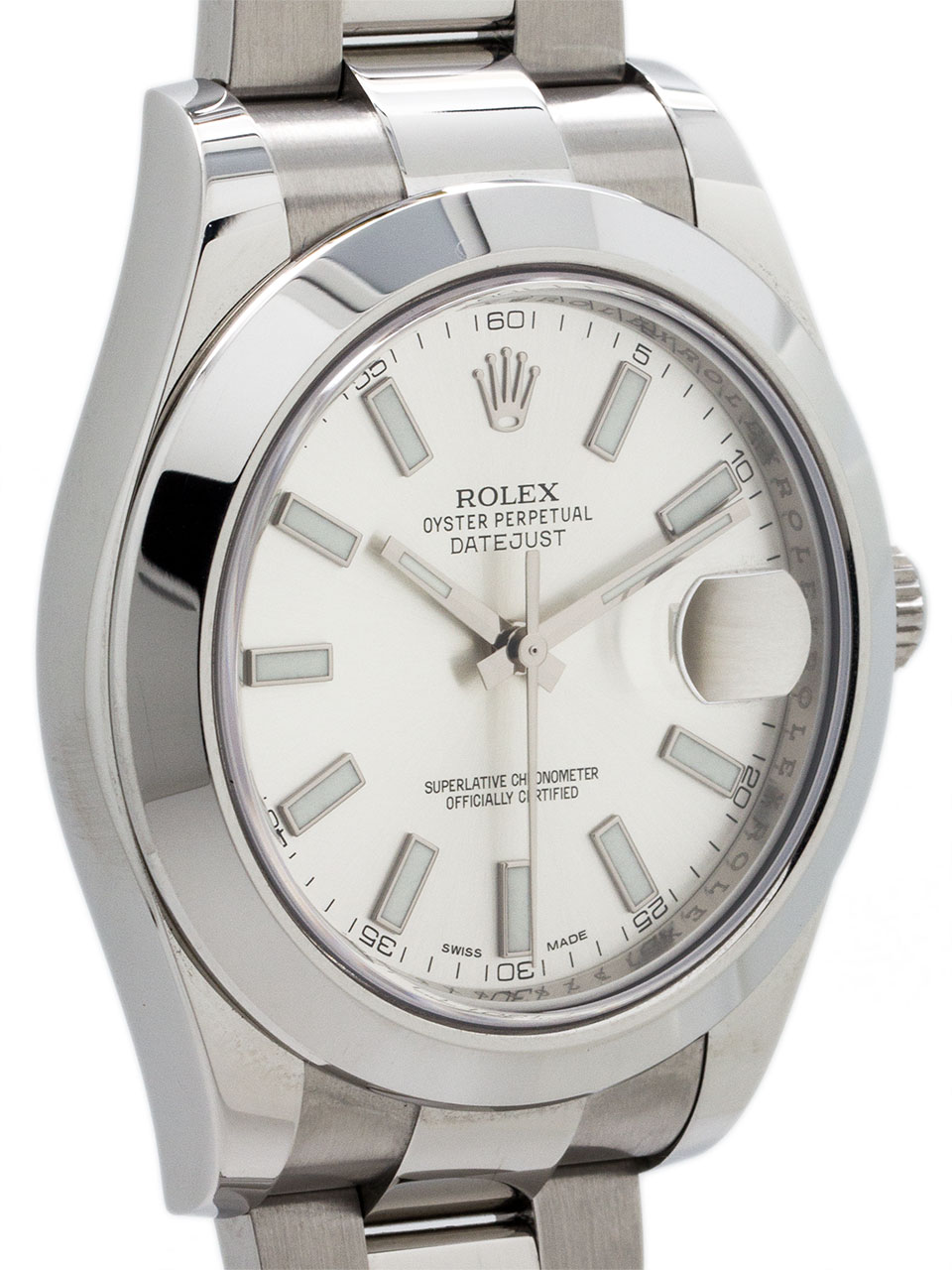 Rolex Stainless Steel Datejust II ref 116300 Silver Dial Mint!