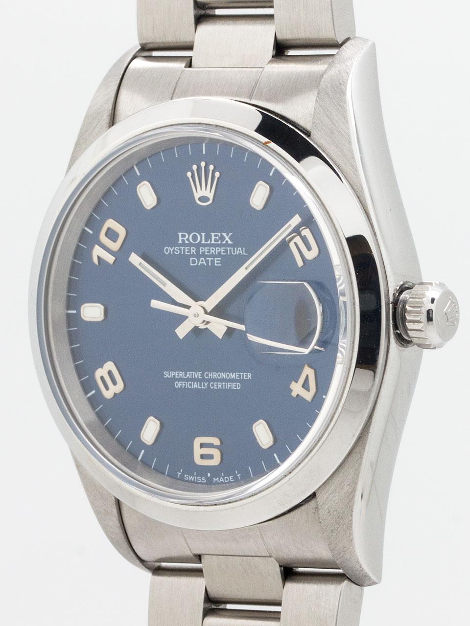 Rolex Oyster Perpetual Date ref 15200 circa 1998