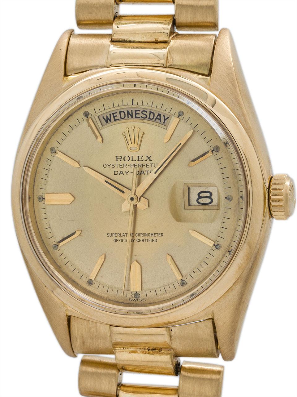 Rolex Day Date President ref 1802 18K YG circa 1963