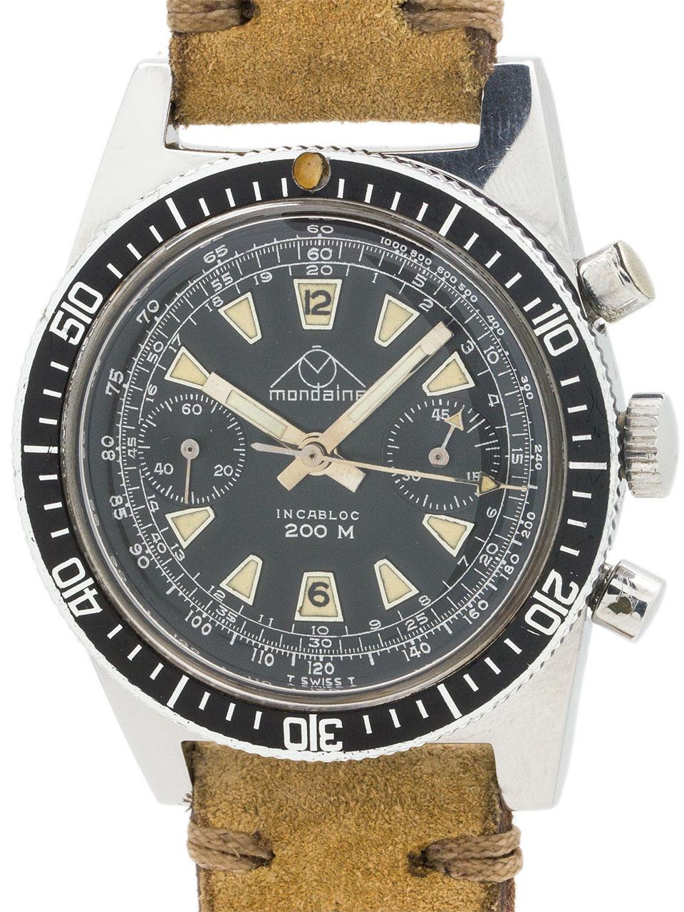 Mondaine Swiss Chronograph circa 1960's