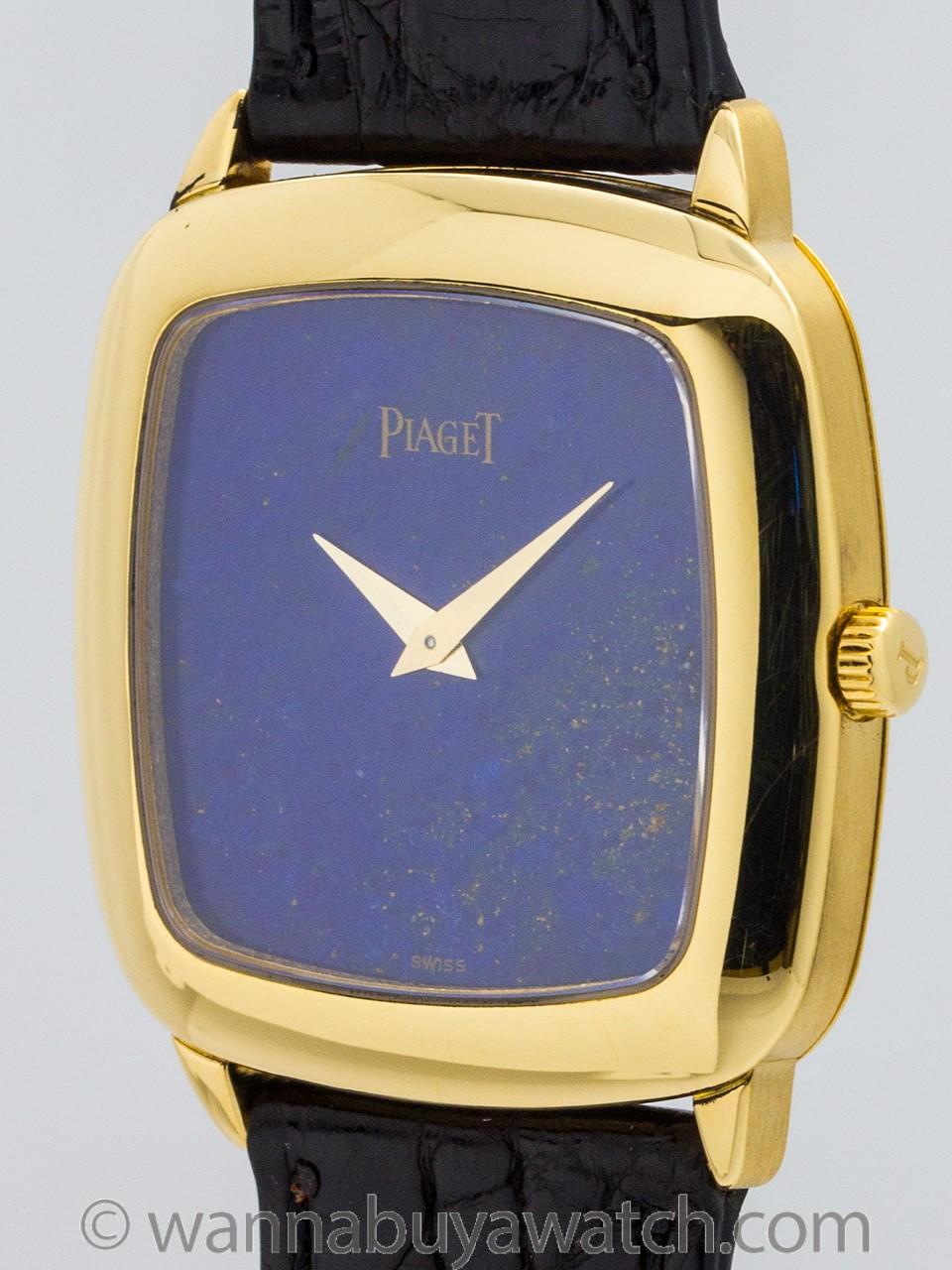 Vintage Piaget 18K YG Lapis Lazuli Dial circa 1970's