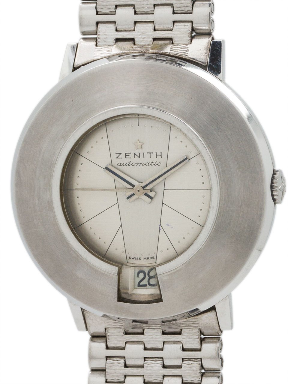 """Zenith SS """"Moderne Mid Century"""" ref 2542 Automatic 1960's!"""