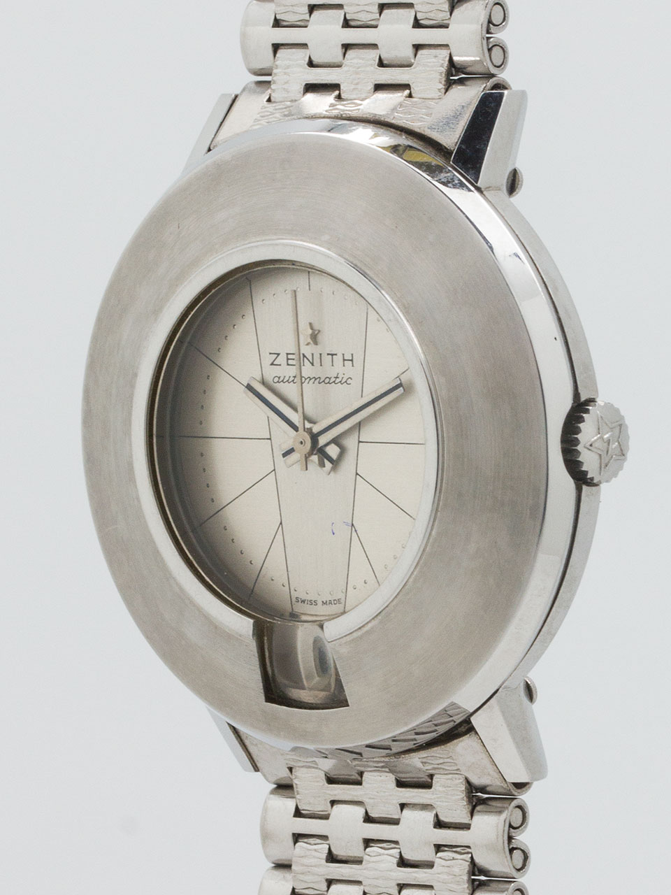 """Zenith SS """"Moderne Mid Century"""" Automatic 1960's MINT!"""