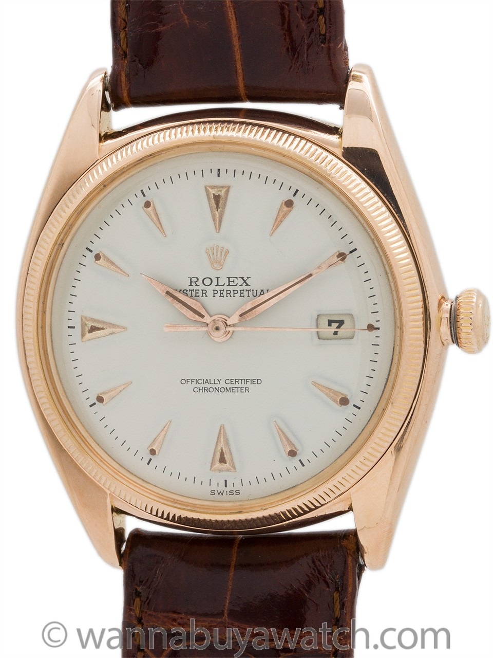 Rolex Datejust ref 4467 18K Rose Gold circa 1957