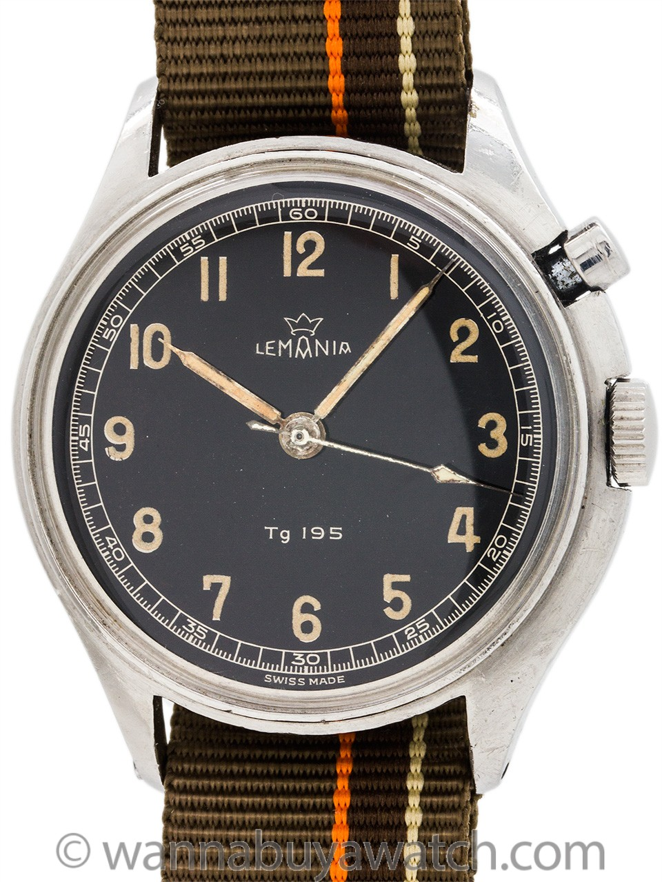 Lemania Swedish Army Flyback circa 1958