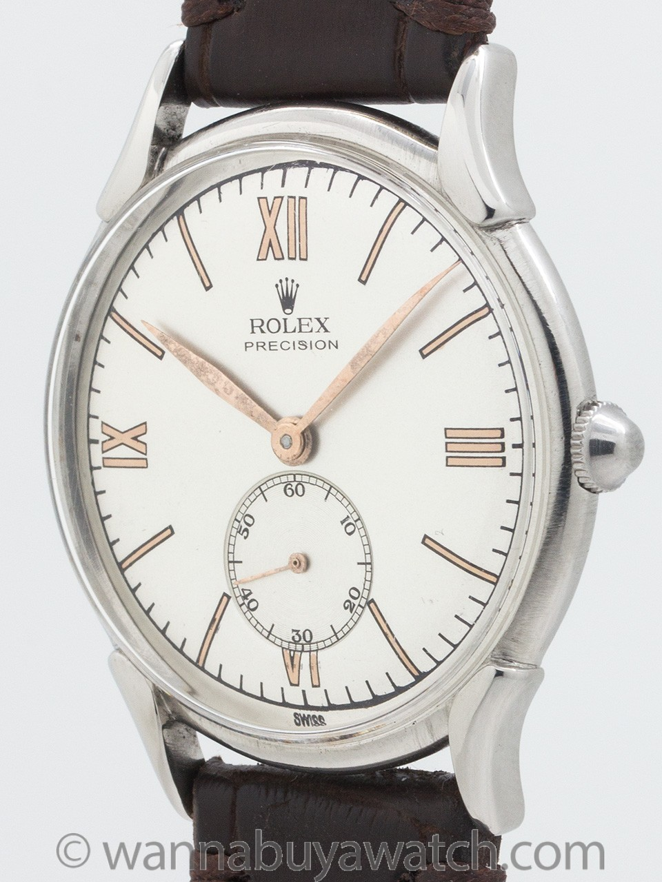 Rolex Dress Model Stainless Steel circa 1940's