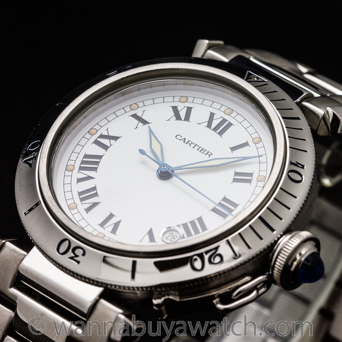 Cartier Pasha Stainless Steel 38mm circa 1990's
