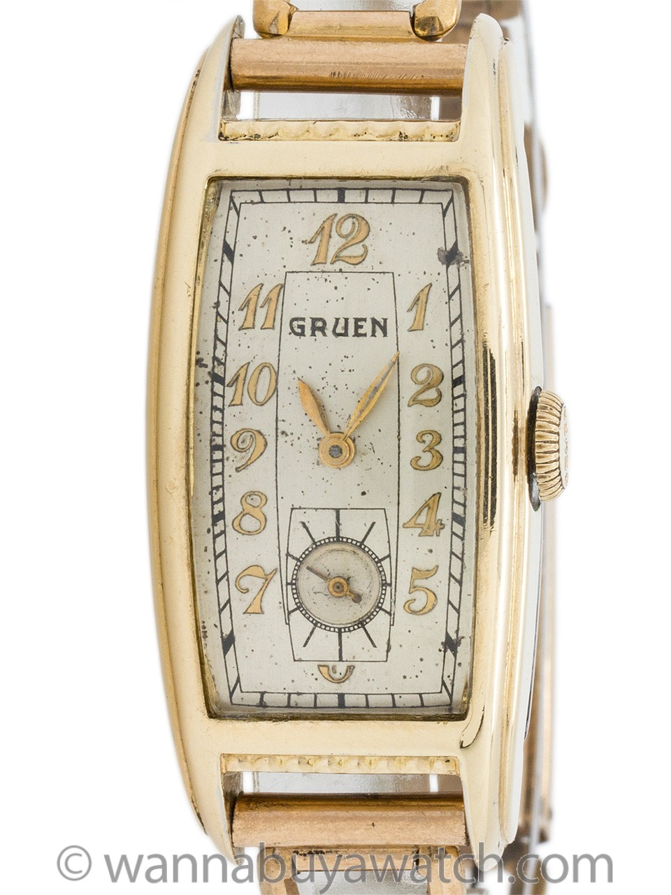 Gruen Curvex Style Gold Filled circa 1930's