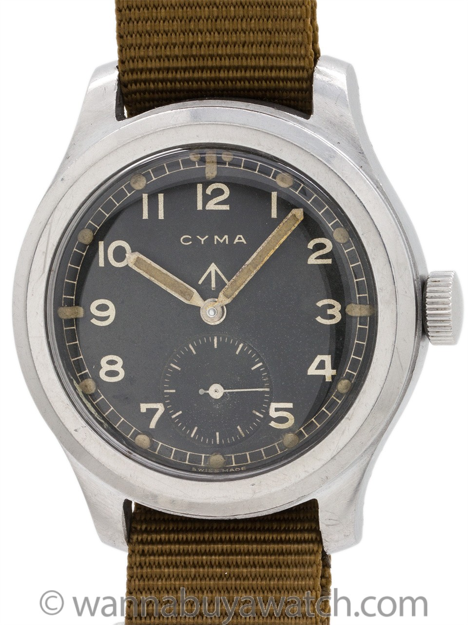Cyma Tavannes Broad Arrow British Military circa 1940's