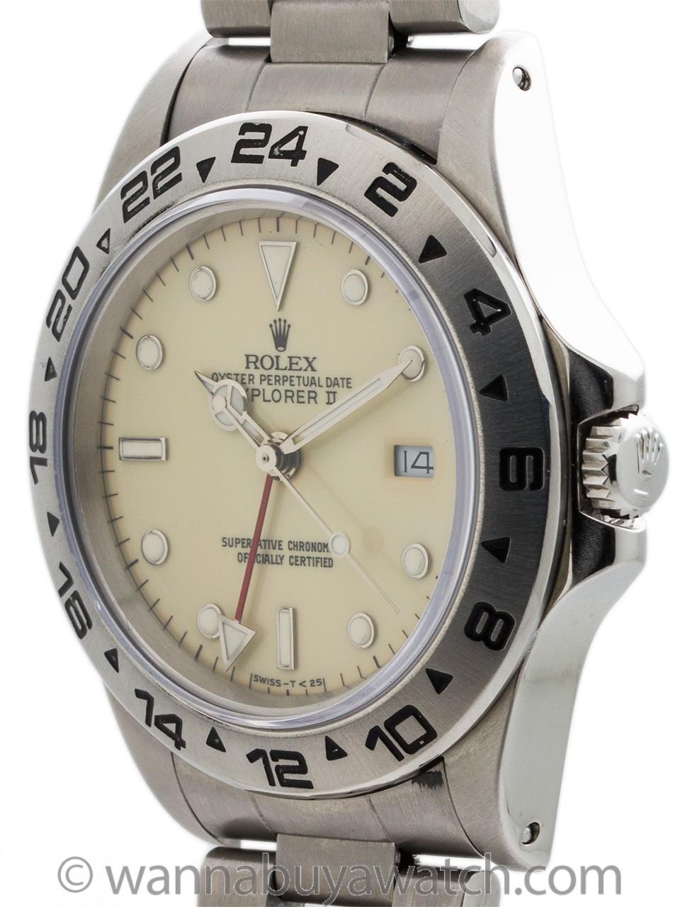 Rolex Explorer II ref 16550 Cream Dial circa 1986