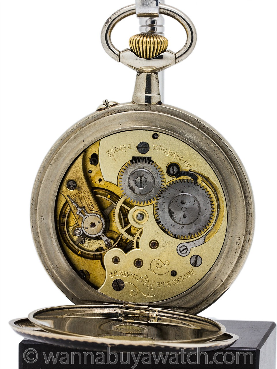 Automobile Regulateur Niello Horse and Steam Powered Automobile Coach Watch