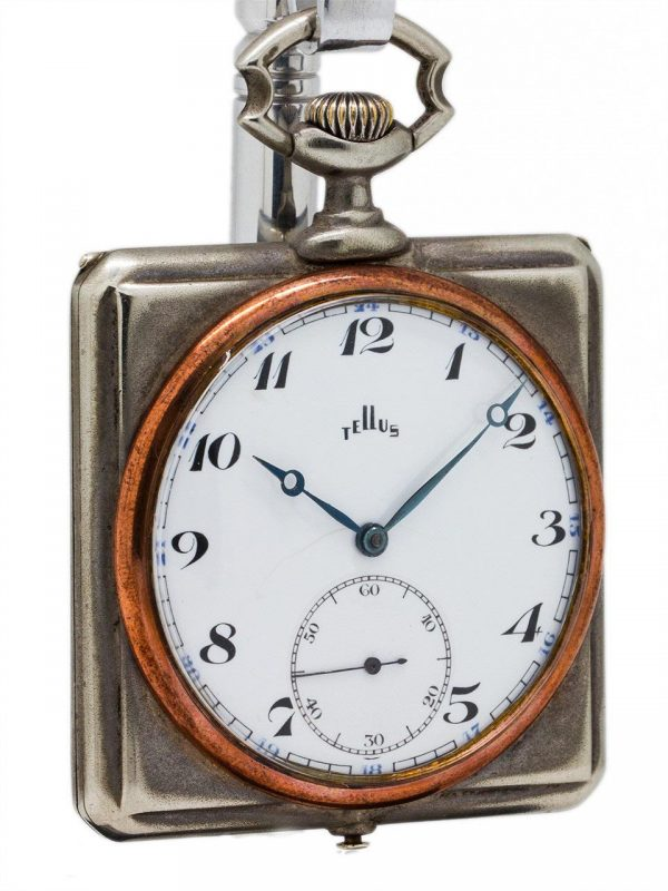 Steam Powered Automobile Pocket Watch Clock circa 1920's