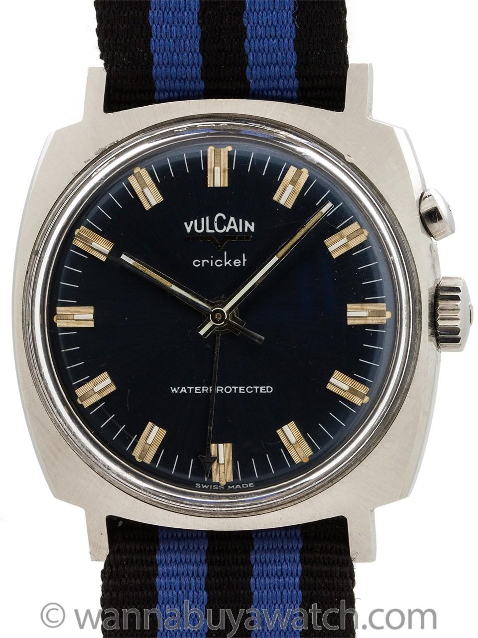 Vulcain SS Cricket Alarm circa 1970's