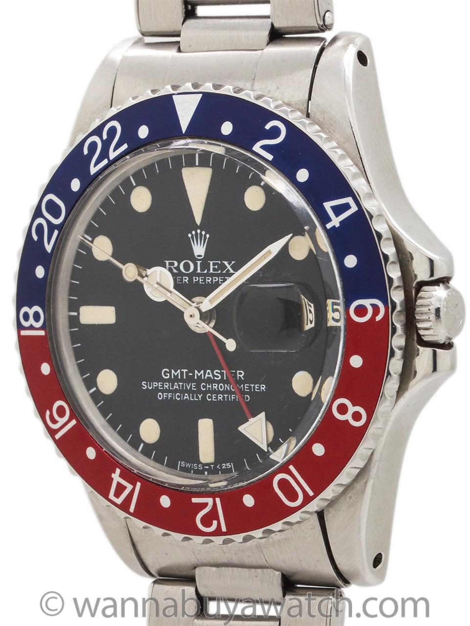 Rolex SS GMT-Master ref 1675 circa 1966