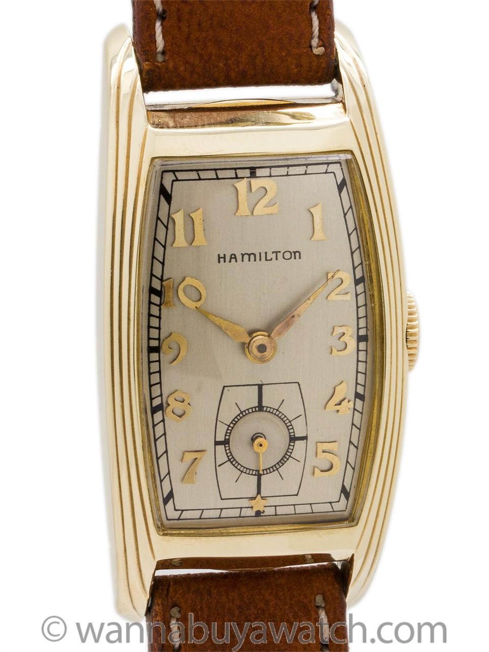 """Hamilton """"Lynwood"""" Curvex 14K Gold Filled circa 1939"""