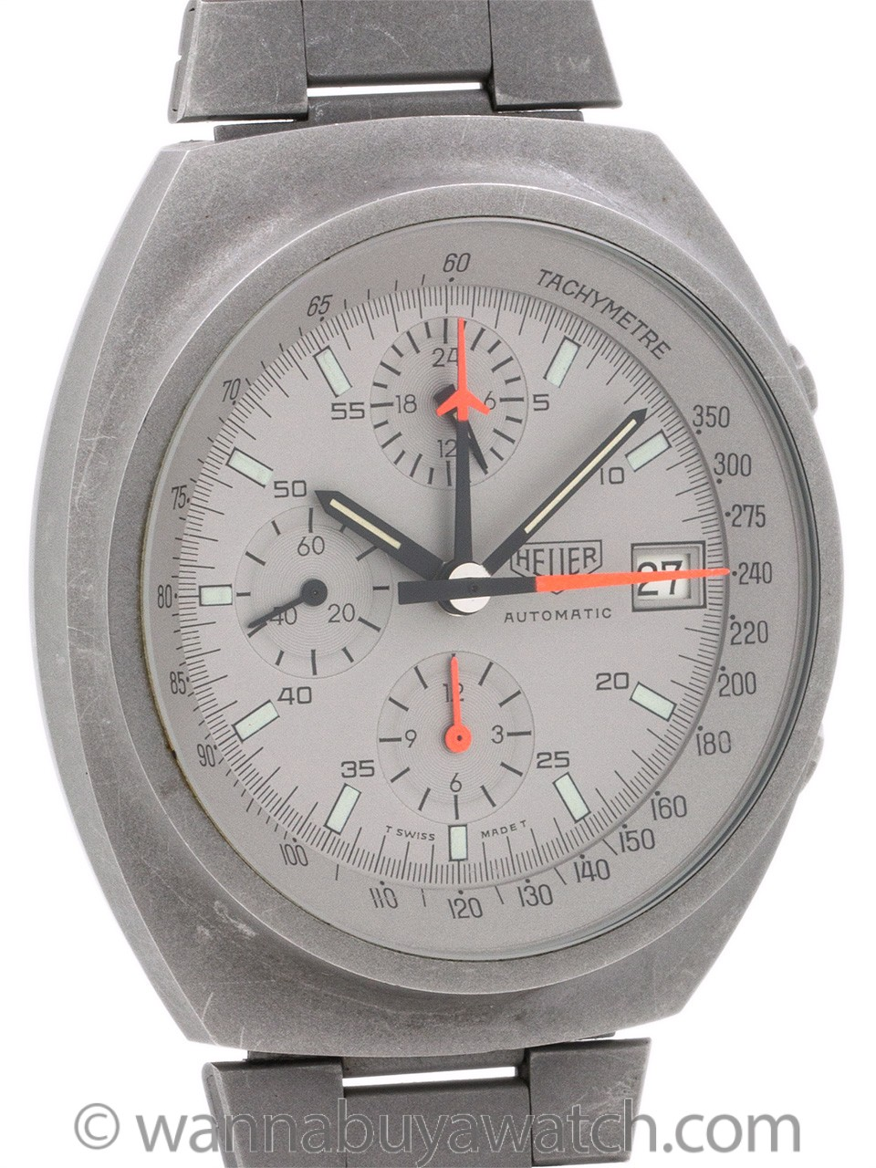 Heuer Pewter PVD ref 510.503 circa 1980's