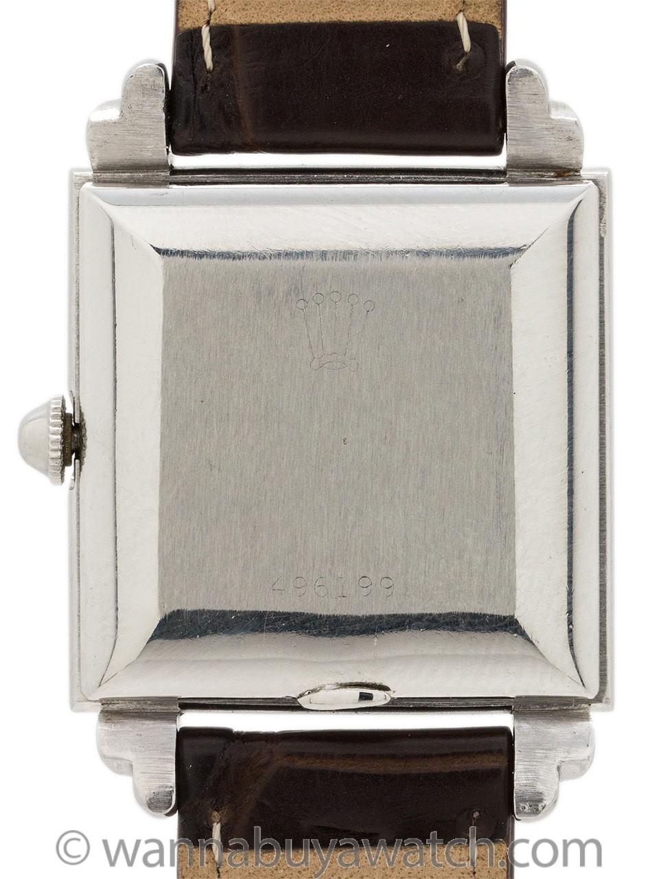 Rolex Art Deco ref 4574 Stainless Steel circa 1939