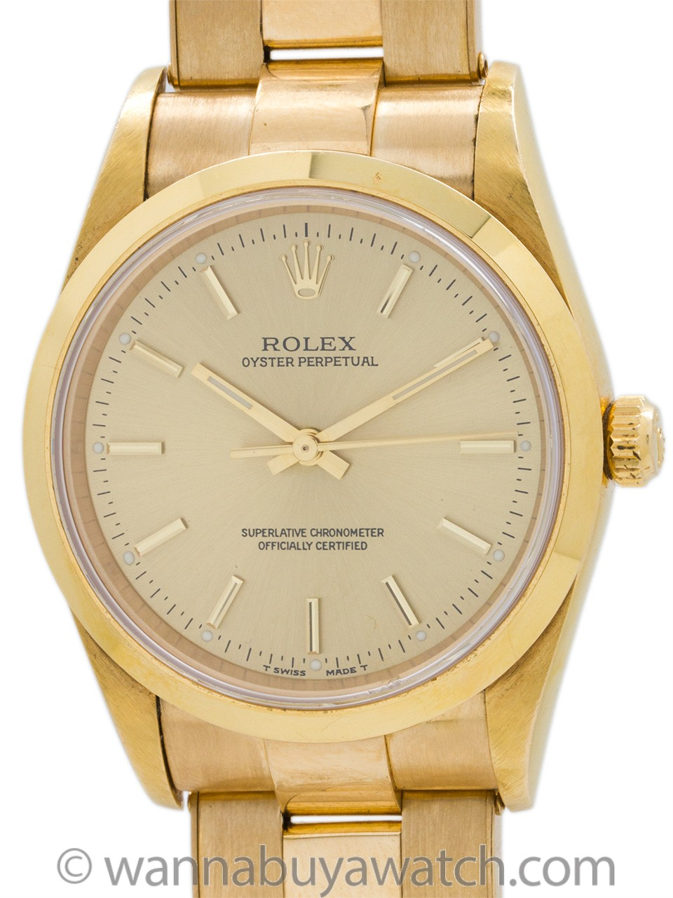 Rolex 18K YG Oyster Perpetual ref 14208 circa 1997