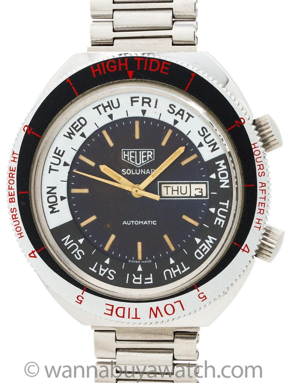 "Heuer Solunar ref 279.603 Hi Tide Low Tide circa 1976 ""Globetrotter Memorobilia"""