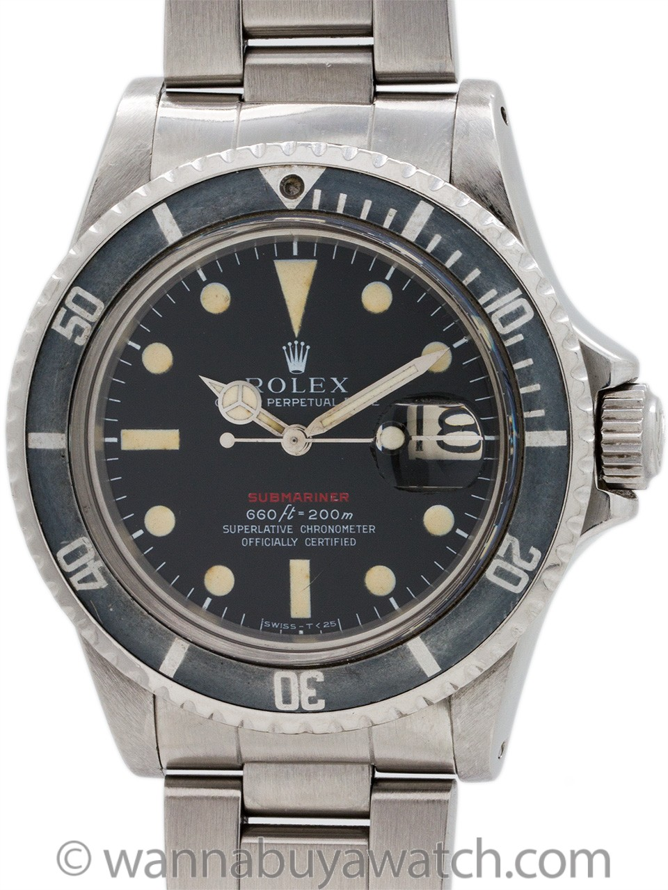 "Rolex ref 1680 ""Red"" Submariner circa 1971"