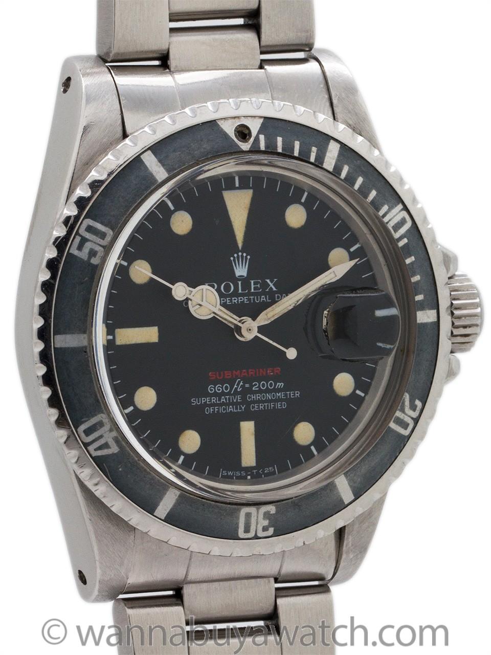 """Rolex ref 1680 """"Red"""" Submariner circa 1971"""