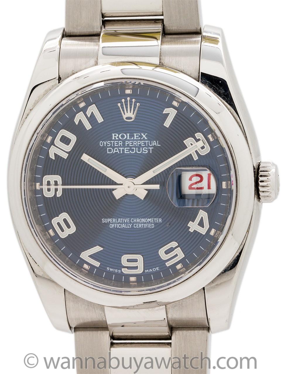 Rolex Datejust ref 116200 Stainless Steel circa 2007